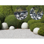 Set 5 bucăți, profil din inox pentru delimitare zonă cu plăci de stabilizare gazon sau pietriș