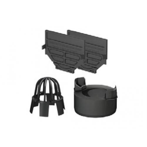 Set de accesorii compus din plăci de capăt, ștuț DN100 și parafrunzar pentru ACO Self Hexaline 2.0