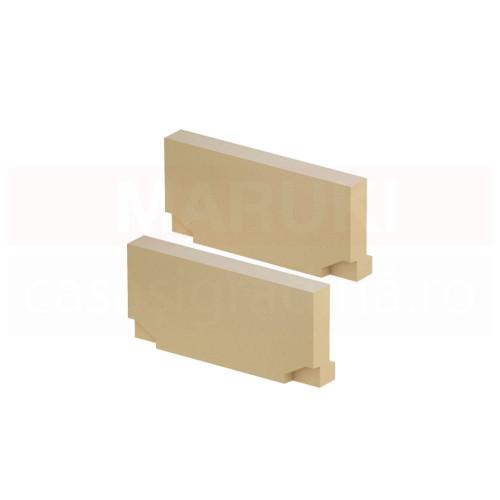 Set cu două plăci de capăt fără ștuț, din beton cu polimeri, pentru ambele capete ale rigolei cu înălțime redusă, ACO Self Euroline