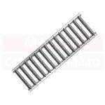 Set 8 rigole cu accesorii ACO Self Euroline 60 cu înălțime redusă, din beton cu polimeri, cu grătar din oțel zincat, lungime 100 cm, cod S810000-8