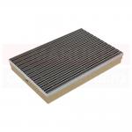 Ștergător de picioare ACO Self Vario, cu tavă din beton cu polimeri și grătar cu inserție de cauciuc, culoare negru, 750mm x 500mm