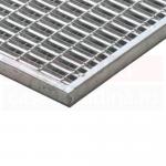 Ștergător de picioare ACO Self Vario, cu tavă din beton cu polimeri și grătar metalic cu bare V, 600mm x 400mm