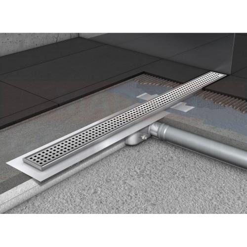 Rigolă de duș ACO ShowerDrain C cu flanșă orizontală, grătar SQUARE, lungime 785mm