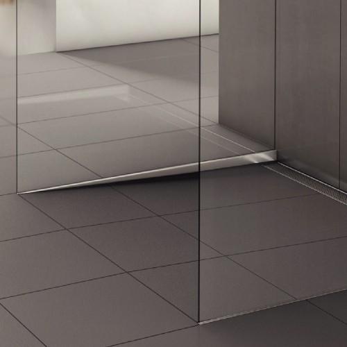 Profil din inox pentru compensare pantă duș, ACO ShowerStep, dreapta, lungime 990mm, înălțime 12.5mm, finisaj mat