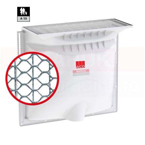 Curte de lumină ACO Therm 1000 x 1000 x 600 mm și kit de montaj