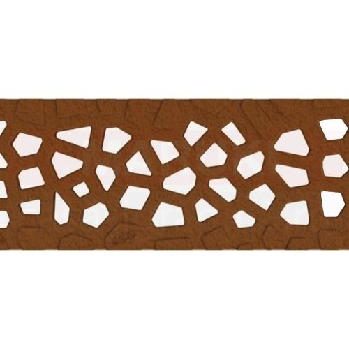 Grătar din fontă tip Voronoi Corten, pentru rigolă ACO Self