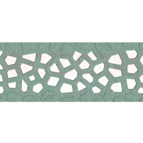 Grătar din fontă tip Voronoi Malachite, pentru rigolă ACO Self