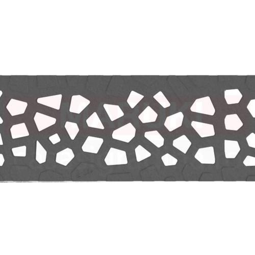 Grătar din fontă tip Voronoi Quartz Fume, pentru rigolă ACO Self