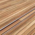 Grătar din oțel inoxidabil cu inserție lemn, pentru rigolă ACO Self