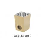 Gură de scurgere ACO Self fără ramă, cu grătar din oțel zincat, cod 01581