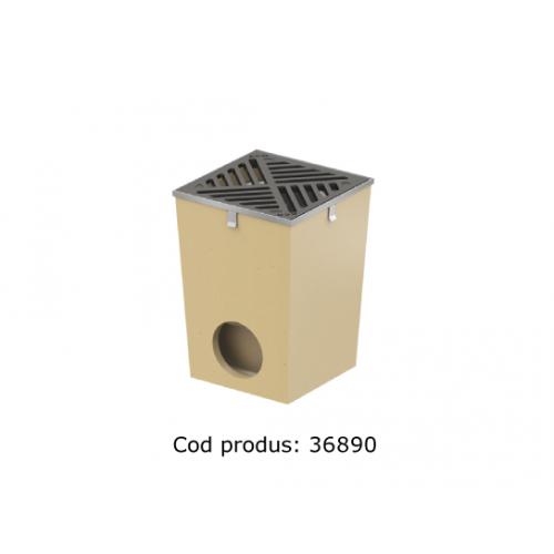Gură de scurgere ACO Self cu ramă din oțel zincat și grătar din fontă, cod 36890