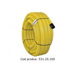 Tub flexibil pentru drenaj, rola 25m, DN100